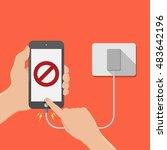 do not play smartphone in... | Shutterstock .eps vector #483642196