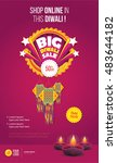 big diwali sale poster design... | Shutterstock .eps vector #483644182