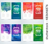 brochure or flyer template set... | Shutterstock .eps vector #483646876
