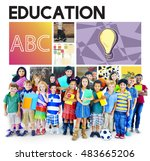 education learning study... | Shutterstock . vector #483665206