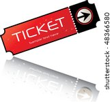 red black admission ticket   Shutterstock .eps vector #48366580