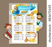 beer restaurant bar brochure... | Shutterstock .eps vector #483670105