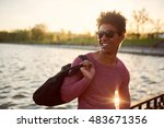 african american man after... | Shutterstock . vector #483671356