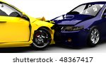 Car crash / accident close up - stock photo