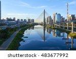 estaiada bridge sao paulo brazil   Shutterstock . vector #483677992