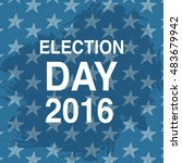 election day poster. 2016 usa.... | Shutterstock .eps vector #483679942