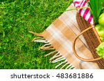 green grass and straw basket...