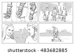 skateboard storyboards | Shutterstock . vector #483682885