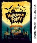 halloween party. vector... | Shutterstock .eps vector #483689815