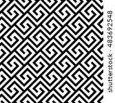 seamless greek pattern.... | Shutterstock .eps vector #483692548