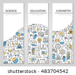 set of vertical banners with... | Shutterstock .eps vector #483704542