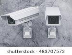 3d rendering cctv camera or... | Shutterstock . vector #483707572