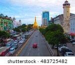 yangon  myanmar   july 23  2016 ... | Shutterstock . vector #483725482
