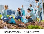 volunteering  charity  cleaning ...   Shutterstock . vector #483734995