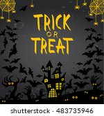 halloween hand drawn... | Shutterstock .eps vector #483735946