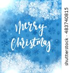 merry christmas and happy new... | Shutterstock .eps vector #483740815