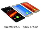 modern smartphone in three... | Shutterstock . vector #483747532