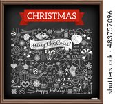 doodle christmas season icons... | Shutterstock .eps vector #483757096