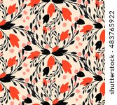 organic floral pattern in rich...   Shutterstock .eps vector #483765922
