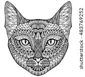 cat. portrait of a cat. cat's... | Shutterstock .eps vector #483769252