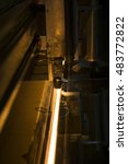 Small photo of machinery for sealing hermetic glass