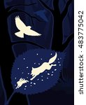 silhouettes of animals and... | Shutterstock .eps vector #483775042