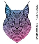 abstract portrait of a wild cat.... | Shutterstock .eps vector #483788032