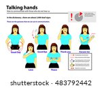 deaf mute tongue language.... | Shutterstock .eps vector #483792442
