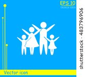 family vector icon | Shutterstock .eps vector #483796906