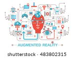 modern flat thin line design... | Shutterstock .eps vector #483802315