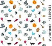 cartoon seamless pattern funny...   Shutterstock .eps vector #483804856