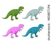 Dinosaur Multicolored Set. Pin...