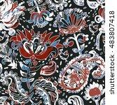 bright seamless pattern in... | Shutterstock .eps vector #483807418