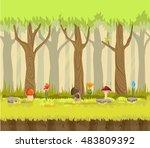 forest vector illustration | Shutterstock .eps vector #483809392
