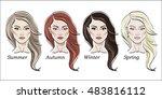 seasonal color types for women... | Shutterstock .eps vector #483816112