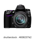 professional photo camera dslr... | Shutterstock .eps vector #483823762