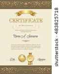 certificate of recognition.... | Shutterstock .eps vector #483825718