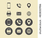 Business Card Icon Set. Web...