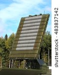 Small photo of All-around antenna of the air defense complex, made of phased array technology, on a rotating platform
