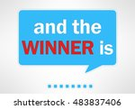 and the winner is  ... | Shutterstock . vector #483837406