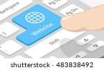 website button with icon on... | Shutterstock .eps vector #483838492