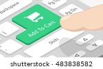 add to cart button on keyboard | Shutterstock .eps vector #483838582