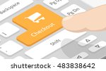checkout button on keyboard | Shutterstock .eps vector #483838642