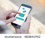 email app on smartphone screen. ...