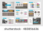 set of color infographic... | Shutterstock .eps vector #483856636