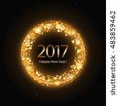 vector 2017 happy new year... | Shutterstock .eps vector #483859462