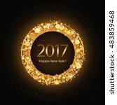 vector 2017 happy new year... | Shutterstock .eps vector #483859468