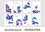 business abstract template... | Shutterstock .eps vector #483864586