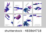 business abstract template... | Shutterstock .eps vector #483864718