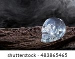 Creepy Crystal Skull With Smok...